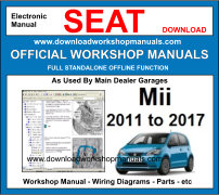 Seat Mii Service Repair Workshop Manual Download